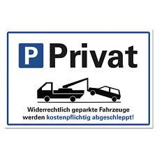 Parken verboten Schild Privat Parkplatz Parkverbot Hartschaumplatte 30x20