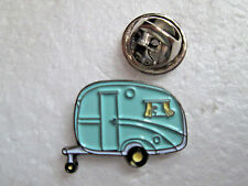 Vintage Caravan Lapel Pin-Nickel Plated-Enamel Infill _ L031
