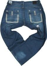 New ENYCE Men's Denim Jeans Sz 32 SLIM STRAIGHT FIT Blue Wash