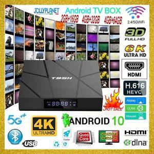 Smart TV Box T95H Android 10 2/4GB + 16/32/64GB 6K 4K Allwinner Quad Core WiFi