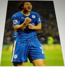 Shinji di Okazaki Leicester City personalmente firmato 12x8 autografo foto