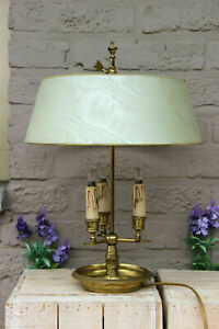 French bouillotte Table lamp bronze 3 arms  arrows