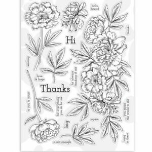 Flower And Leaf Transparent Clear Stamps Silicone Scrapbooking Photo Album Card