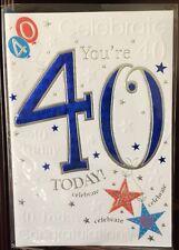 Sei 40 oggi-COMPLIMENTI-celebrare 40-cartolina d'auguri