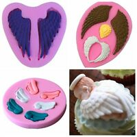3D Baby Angel Wing Silicone Fondant Mold Chocolate Cake Decorating Baking Mould