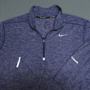 NIKE SOFT STRETCH POLY SPANDEX RUNNING 1/4 ZIP PULLOVER--L--TOP SPOTLESS QUALITY