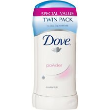 New Dove Invisible Solid Powder 2.6 OZ. Sticks Twin Pack