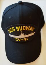 U.S. NAVY USS MIDWAY CV-41 Military Ball Cap
