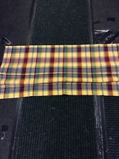 "ROMAN BLIND Yellow & Red Check Made To Measure Roman Blind 41"" W X 40"" D New"