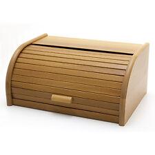 Holzfee BK40 Eiche Brotkasten 40 cm Holz Brotbox Rollkasten Brot Rollklappe