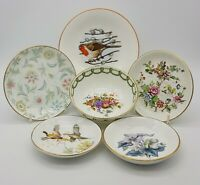 6 Mixed Pin/Trinket Dishes,Royal Doulton,Royal Worcester,Crown Staffordshire etc