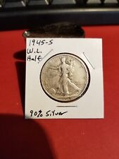 1945-S Walking Liberty Half Dollar!!! Nice Coin!!! 90 % Silver