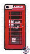Red British London Telephone Booth Phone Case fits iPhone Samsung LG Google etc