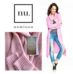 NU Numinou Pink Oversized Hooded Longline Designer Cardigan Pockets NWT $144