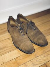 Cheaney Men's Brown Suede Oxford Dress Loafer Shoe