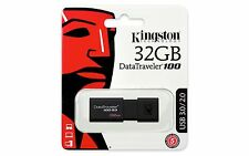 Kingston DataTraveler100 G3 32GB USB 3.0 Flash Stick Pen Memory Drive - Black