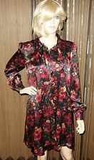 Galliano Silk Above Knee, Mini Casual  Floral Tunic Dress size 30/44/ new