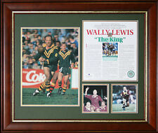 "Wally Lewis Signed ""The King"" Limited Edition Framed"