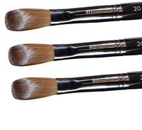 Six Angles- Black Petal Kolinsky Acrylic Nail Brush for Manicure Powder(CRIMPED)
