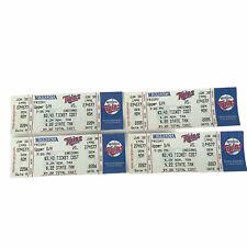 Lot of 4 Eddie Murray 3000th Hit Unused Tickets At Minnesota Twins