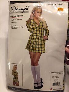 Medium Clueless Cher Haloween Cowtume Yellow Plaid Skirt Blazer School Girl