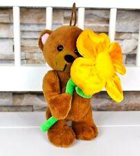 Mr.G-Toys BÄR TEDDY mit Blume 20 cm Kuscheltier Stofftier Plüschtier