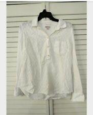 Merona White Blouse Medium buttoned