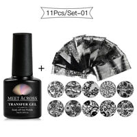 11 Pcs Transfer Sticker Manicure Starry Sky Nail Art Sticker Foils Decals Sets