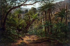 Eugene Von Guerard - Ferntree Gully in the Dandenong Ranges Poster, Canvas Print