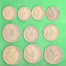 10 monete francs 10 20 50 del 1933 1951 1952 1953 1955 franchi francesi franco