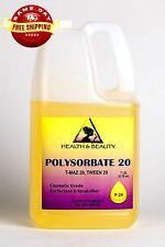 POLYSORBATE 20 T-MAZ 20 TWEEN 20 SOLUBILIZER SURFACTANT & EMULSIFIER PURE 7 LB