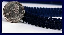 Navy Blue Braided Gimp Trim Ribbon wedding prom upholstery fabric sewing craft