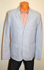 New $295 Polo Ralph Lauren Custom Fit Blazer Jacket Light Blue 44 44R 3 Button