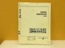 Hp / Agilent 08614-929 8614A Signal Generator Operating + Service Manual
