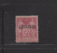 """FRENCH OFF IN EGYPT-ALEXANDRIA - 12a - TYI - MH -1899 - """"ALEXANDRIE"""" O/P ON SAGE"""
