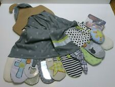"""New listing Demdaco Mommy & Me Activity Scarf """"Faith"""" Gray Baby Shower Christmas Gift Infant"""