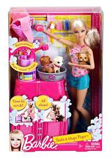 Barbie Suds & Hugs Pups Playset - Doll, 2 puppies, outfits & bath accessories