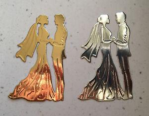 6 Bride And Groom Silhouette Die cuts Wedding Couple  (B)