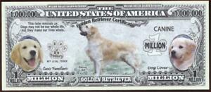 GOLDEN RETRIEVER 🐶 Certificate Million 🐶💶 Fantasy Note 🐶Buy More Save More