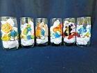 Vintage SMURFS character glasses set of 6( 1982)