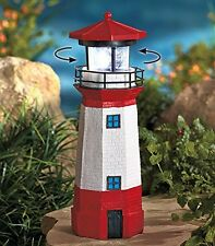Solar Lighthouse with Rotating Lamp Outdoor Figurine Light, New