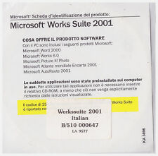 Microsoft Works Suite 2001*Italiano*Nuevo*word 2000*picture it*autoroute
