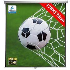 """Schermo Proiettore Proiezione Videoproiettore 99"""" Home Cinema 178x178 cm FULL HD"""