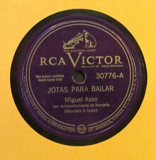MIGUEL ASSO / JACINTA BARTOLOME / JOTAS PARA BAILAR / 78 RPM RECORD