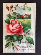 Vintage Postcard - Birthday Greetings Card - #36 - 1912