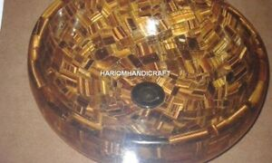 "12"" Marble Tiger Eye Washbasin Sanitary Ware Accessory Inlay Bathroom Arts H4874"