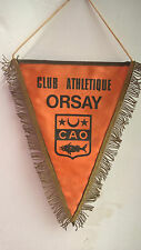 Vintage Fanion Club Athletique Orsay CAO 27 cm x 18 cm