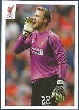 PANINI LIVERPOOL STICKER-2014/15- #101-SIMON MIGNOLET BARKING OUT INSTRUCTIONS