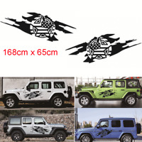 2x Car Body Side Door Stickers Army Military Star Style Decals For Jeep Wrangler