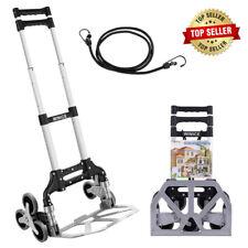 Nesaila Stair Climber Hand Truck Portable Folding Trolley Adjustable Handle Cart
